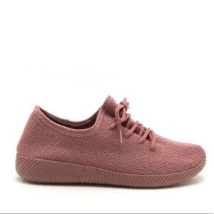 QUPID Mauve/Pink Sneakers 7.5 Knit Shoes